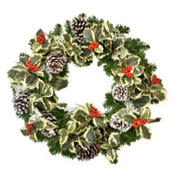 Monterrey Pine Silk Artificial Christmas Door Wreath 18 Inches