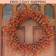 Claremont Fall Pip Berry Wreath 22 inches