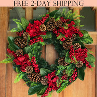 Arietta Winter Wreath, 22 inches