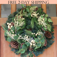 Moravia Winter Wreath, 22 Inches
