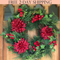 Jasper Winter Wreath, 22 Inches