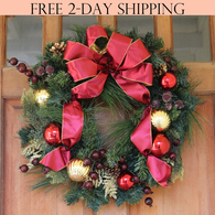 Easton Christmas Wreath, 22 Inches
