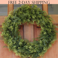 Fernville Front Door Wreath, 22 Inches