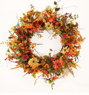 Baneswood Silk Front Door Fall Wreath 22 in