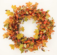Hartefeld Silk Front Door Fall Wreath 22 in