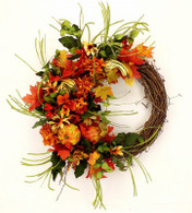 Hillendale Silk Front Door Fall Wreath 22 in