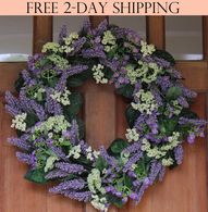 Bishop's Lace Silk Spring Door Wreath - 24 in