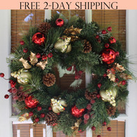 Queensbury Decorated Door Wreath, 22 Inches