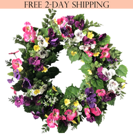 Chatham Silk Front Door Wreath - 24 inch