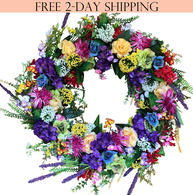 Ardmore Silk Front Door Wreath - 24 inch