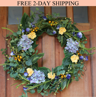 Aftonshire Spring Front Door Wreath - 24 in