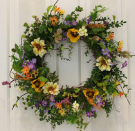 Montchanin Silk Front Door Spring Wreath 22 in