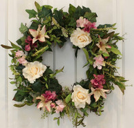 Centerville Silk Front Door Spring Wreath 22 in