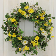 Haverford Silk Front Door Spring Wreath 22 in