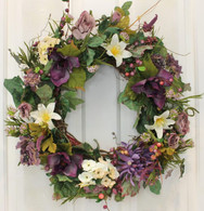 Longwood Silk Front Door Spring Wreath 22 in