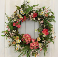 Claymont Silk Front Door Spring Wreath 22 in