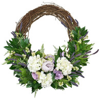 Westmont Silk Front Door Spring Wreath (24 Inch)