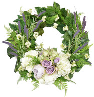 Boothwyn Silk Front Door Spring Wreath - 18 Inch