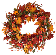 Bainbridge Silk Fall Door Wreath 22 Inches