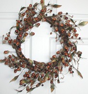 Acorn Hollow Wreath - 16 in