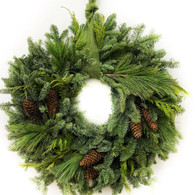 Forever Green Fresh Christmas Wreath 22 inch