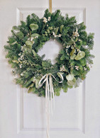 Kristina's Holiday Fresh Christmas Wreath 22 inch