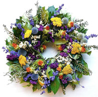 Happy Garden Wreath 22 inch