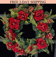 Westhaven Winter Wreath, 22 inches