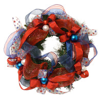 America The Beautiful Wreath - 18 in