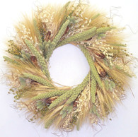 Amber Waves Wreath - 22 in