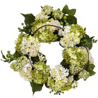 Antigua Hydrangea Silk Door Wreath 18 inch
