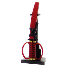 "7""L Samurai Sword Scissor.  Red."
