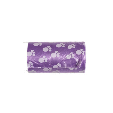 Purple Waste Bag.  5 Rolls, 20 Bags per roll