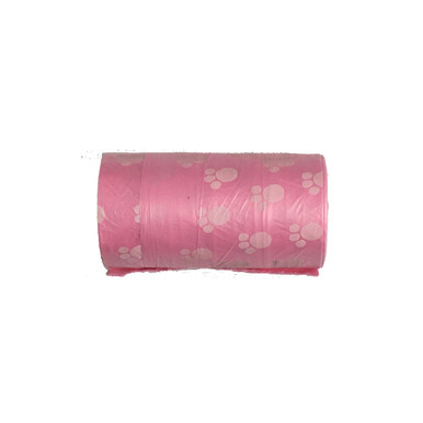 Pink  Waste Bag.  5 Rolls, 20 Bags per roll