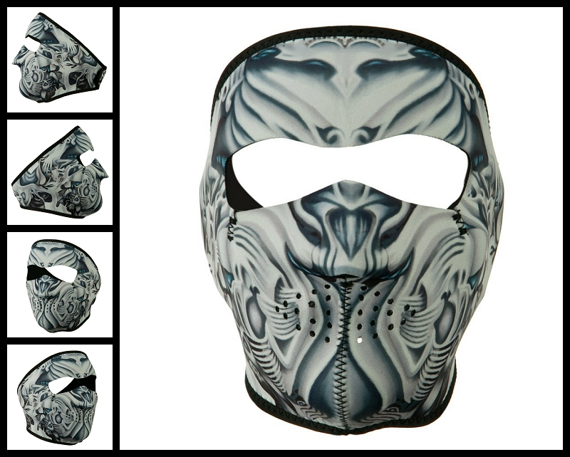 bio mechanical motorcycle face mask