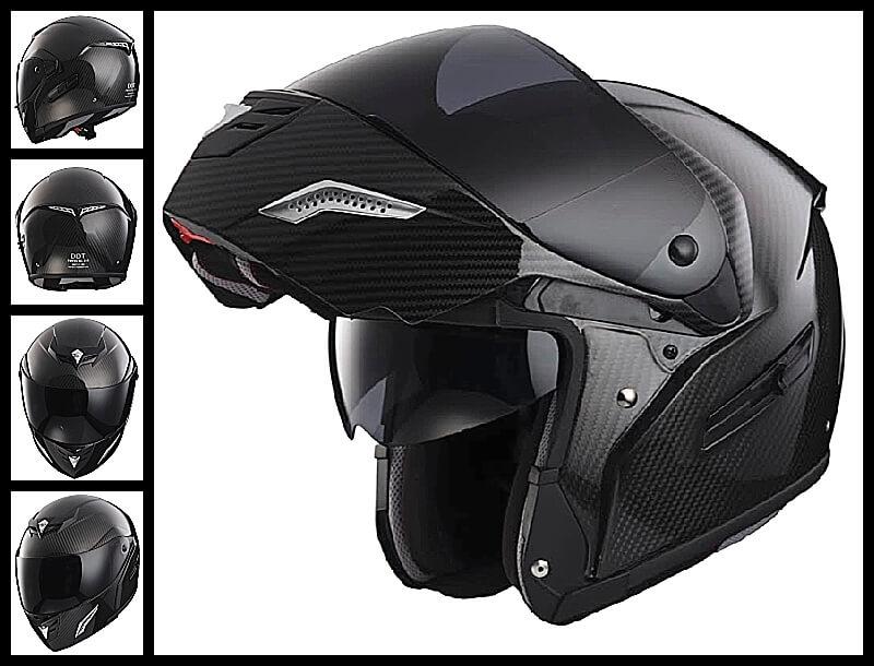 Carbon Fiber Motorcycle Helmet >> Bmf 2 Modular Full Face Carbon Fiber Motorcycle Helmet