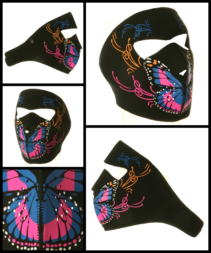 Butterfly Motorcycle Face Mask