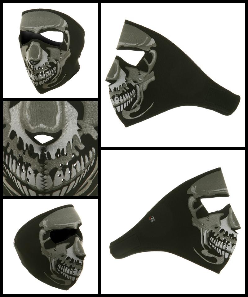 Chrome Skull Motorcycle Face Mask