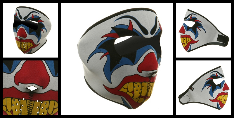 Clown motorcycle face mask