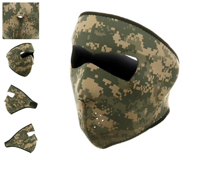 Digital ACU motorcycle Face Mask