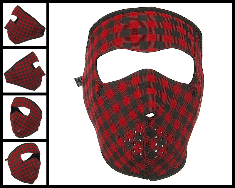 Plaid Face Neoprene Face Mask
