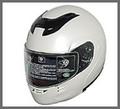 DOT Modular Full Face Pearl White Motorcycle Helmet