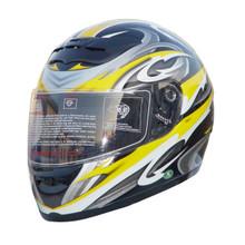 Yellow Full Face Motorcycle Helmet