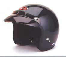 3/4 Shell Black DOT Motorcycle Helmet
