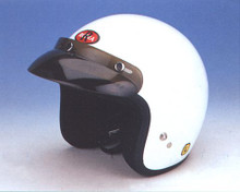 3/4 Shell White DOT Motorcycle Helmet