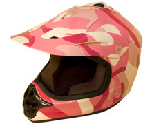 Pink Kids MX Helmet