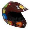 DOT MotoX Motocross Kyle Busch M&M Brown Motorcycle Helmet