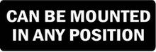 CAN BE MOUNTED IN ANY POSITION Motorcycle Helmet Sticker