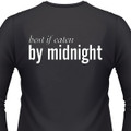 Best If Eaten By Midnight Biker T-Shirt