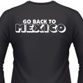 Go Back To Mexico Biker T-Shirt